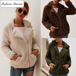 Fashione Shanone - Veste aviateur en laine