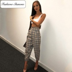 Fashione Shanone - Pantalon plaid taille haute