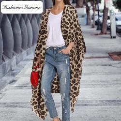 Fashione Shanone - Long kimono léopard