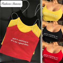 Fashione Shanone - Crop top avec texte