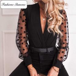 Fashione Shanone - Blouse avec manches transparentes