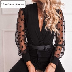 Fashione Shanone - Blouse with transparent sleeves