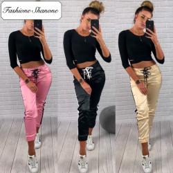 Fashione Shanone - Pantalon de jogging en satin