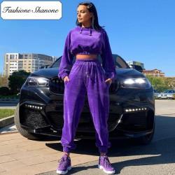 Fashione Shanone - Velvet jogging pants