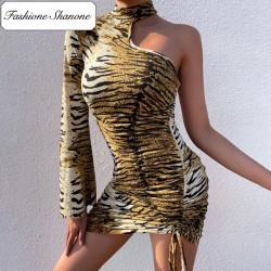 Fashione Shanone - Robe tigre avec une manche
