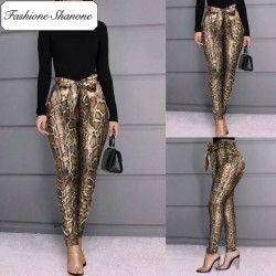 Fashione Shanone - Snake high waist pants