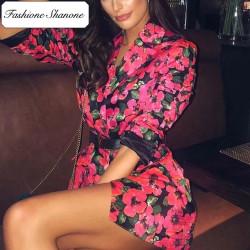 Fashione Shanone - Robe blazer fleurie