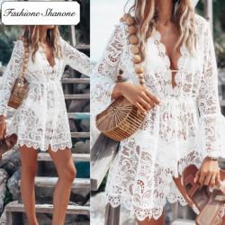 Fashione Shanone - Robe de plage en dentelle