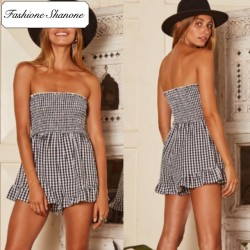 Fashione Shanone - Gingham playsuit