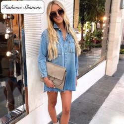 Fashione Shanone - Robe chemise en jean
