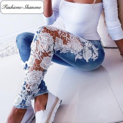 Fashione Shanone - Skinny jeans with lace