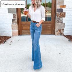 Fashione Shanone - Jean taille haute évasé