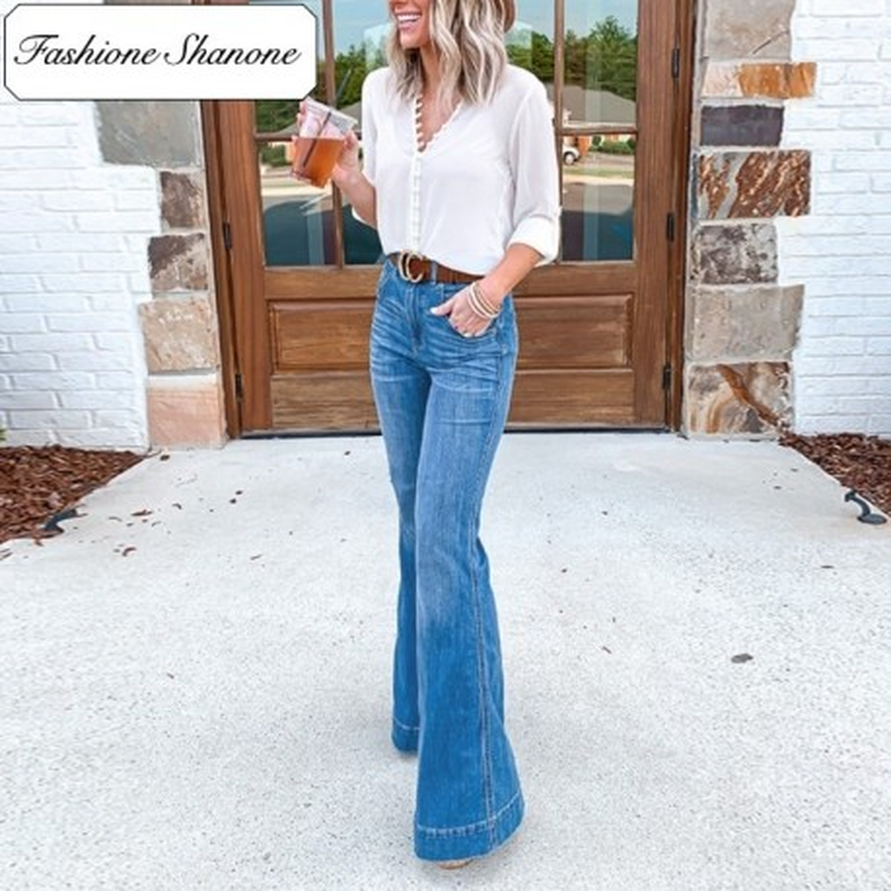 Fashione Shanone - Flare high waist jeans