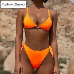 Fashione Shanone - Orange high waist bikini