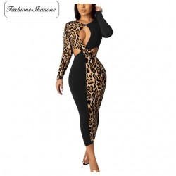 Fashione Shanone - Leopard and black dress