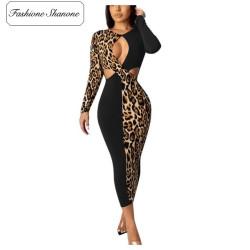 Fashione Shanone - Robe noire et léopard