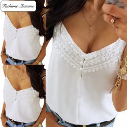 Fashione Shanone - White top with lace