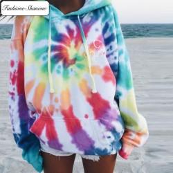 Fashione Shanone - Multicolor tie dye hoodie