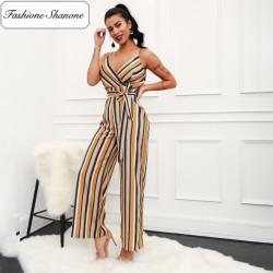 Fashione Shanone - Combinaison pantalon rayée