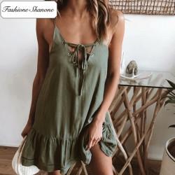 Fashione Shanone - Army green dress