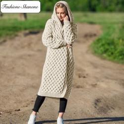 Fashione Shanone - Long cardigan torsadé