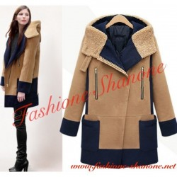 305 - Hooded camel coat