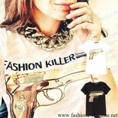 AH14 - T-shirt imprimé Fashion Killer
