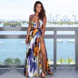 Fashione Shanone | Robe longue dos décolleté