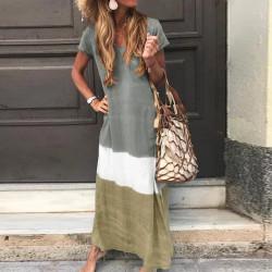 Fashione Shanone| Robe longue tricolore