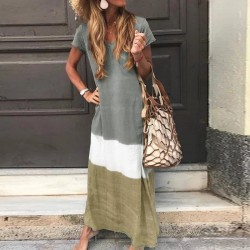Fashione Shanone | Tricolor maxi dress