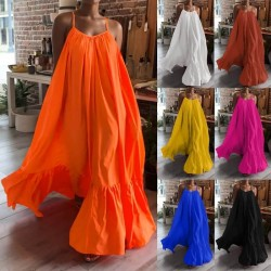 Fashione Shanone | Robe longue ourlet froufrou