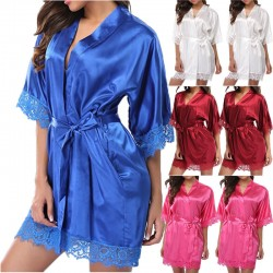 Fashione Shanone   Satin and lace dressing gown