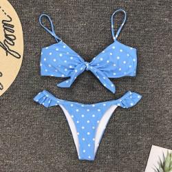 Fashione Shanone | Bikini bleu à pois