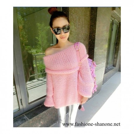 305 - Pink off shoulder knitwear