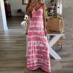 Maxi tie dye dress with straps