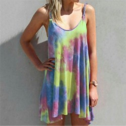 Fashione Shanone | Robe tie dye à bretelles