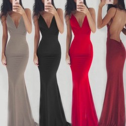 Fashione Shanone | Maxi backless strappy dress