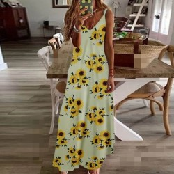 Fashione Shanone | Maxi sunflower dress with straps
