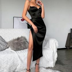 Fashione Shanone | Robe en satin à bretelles