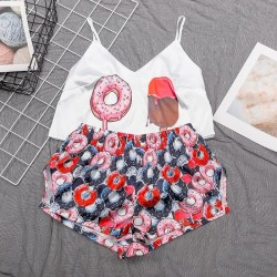Fashione Shanone | Crop top and shorts pajamas