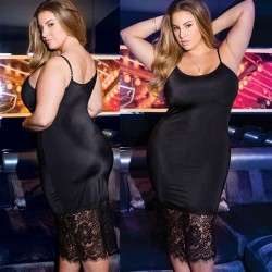 Fashione Shanone | Plus size lace nightie