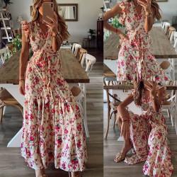 Fashione Shanone | Robe longue dos-nu à bretelles
