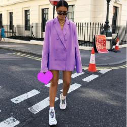 Fashione Shanone | Blazer oversize violet