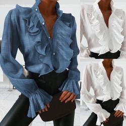 Fashione Shanone | Ruffle collar shirt
