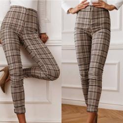 Fashione Shanone | Pantalon plaid taille haute
