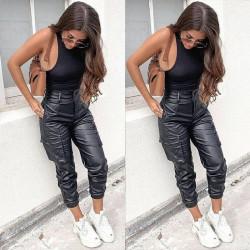 Fashione Shanone | Pantalon cargo en cuir