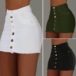 Fashione Shanone   Buttoned denim skirt