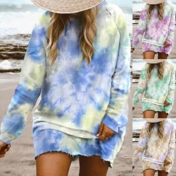 Fashione Shanone | Tie dye sweatshirt dress
