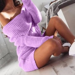 Fashione Shanone | Shoulder off sweater dress