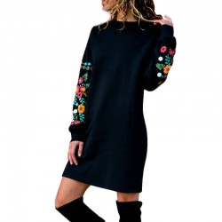 Fashione Shanone | Floral sleeves sweater dress